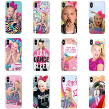jojo siwa transparent Soft silicone phone cover for iPhone XS XR MAX X 5 5S 5SE