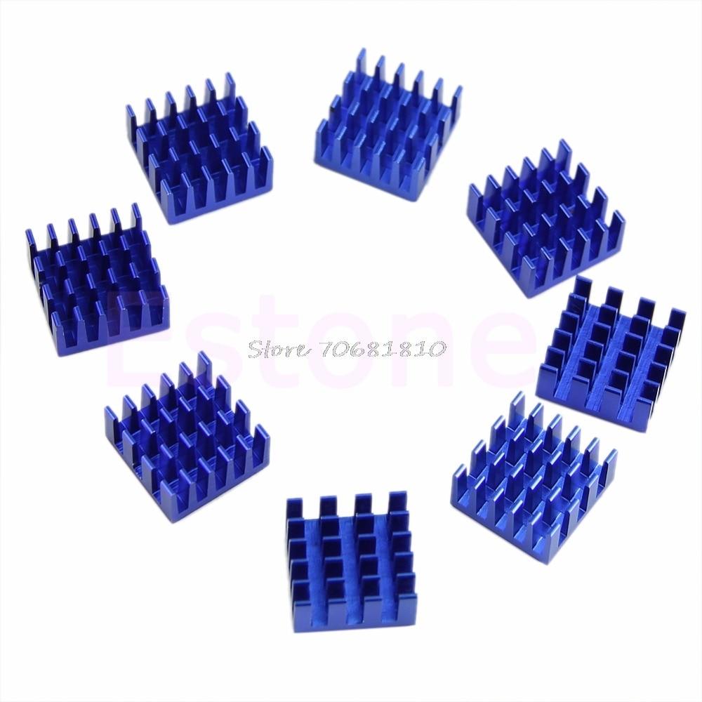 8Pcs/lot 15mm*15mm*8mm Aluminium Shim Pad Thermal VGA RAM Heat Sinks Spreader Memory Cooler Cooling For DDR Z07 2 x b ddr ddr2 ram memory cooler heat spreader heatsink z09 drop ship