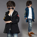 2016 The New Children's Coat Boys Character Inclined Zipper Coat Winter Jackets Children Children's Clothes