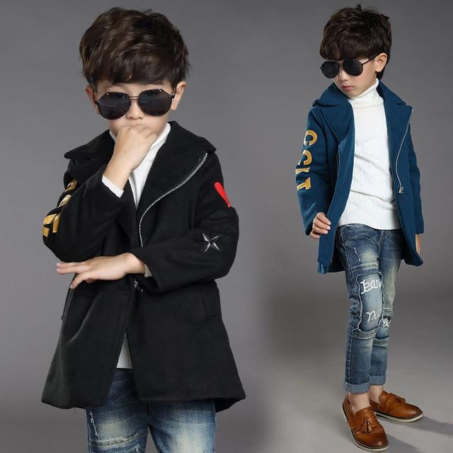 2016 The New Children's Coat Boys Character Inclined Zipper Coat Winter Jackets Children Children's Clothes