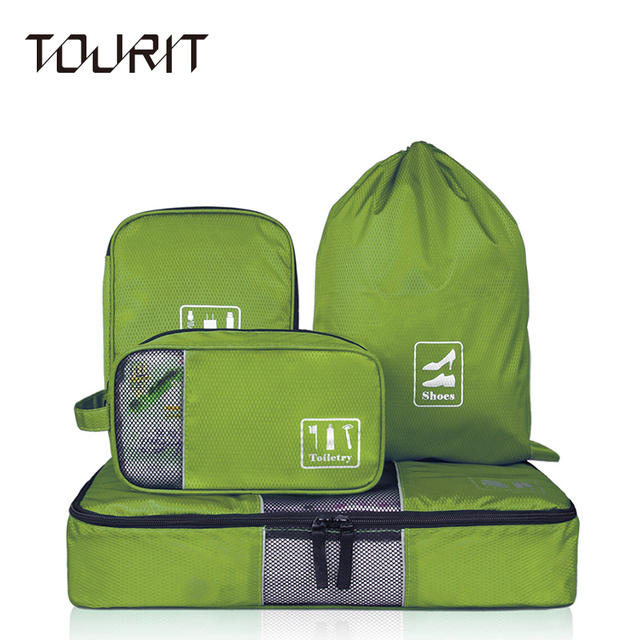 4 pcs/set Fashion Travel Bags For Portable Multi-functional Travel Clothing Bag Makeup Wash Bag Wire Bags
