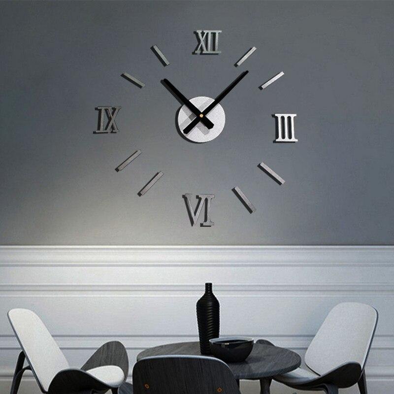 Wall Clock Modern Diy Large Metal Watch Home Decor Gift Duvar Saati Living Room Decoration Horloge Clocks In From