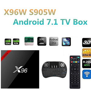 X96 X96W Android 7.1 TV Box WiFi S905W smart tv bo ...
