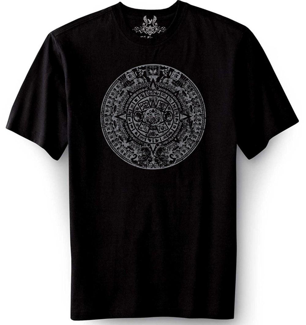 Design t shirt murah - 2017 Fashion Kasual Streetwear Pria Dicetak Aztec Indian Pola Desain Grafis T Shirt Katun Tee Lengan Pendek Designer