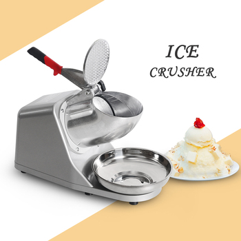 ITOP Electric Ice Crusher Ice Crushing Machine Snow Ice Maker Bar Cocktail Shaver Snow Cone Maker Machine With 1Pcs Bowl