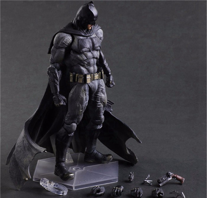 Play Arts Kai Batman Action Figures Dawn of Justice PVC Toys 270mm Anime Movie Model Heavily-armored Bat Man Playarts Kai batgirl action figures play arts kai pvc toys batman arkham knight 250mm anime movie playarts kai model justice league 321
