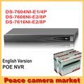 Hikvision PoE NVR 16CH, DS-7604NI-E1/4 P, DS-7608NI-E2/8 P, DS-7616NI-E2/8 P, 4CH 8CH NVR 1080 P Видеонаблюдения Видеорегистратор