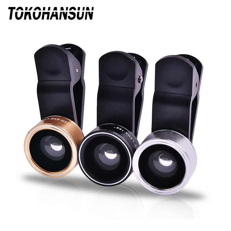 Universal Clip 3 in 1 HD Fish Eye Camera Macro Wide Angle Phone Lens For iphone x 8 plus 7 xs 6 6s For Xiaomi redmi note 7 mi 9