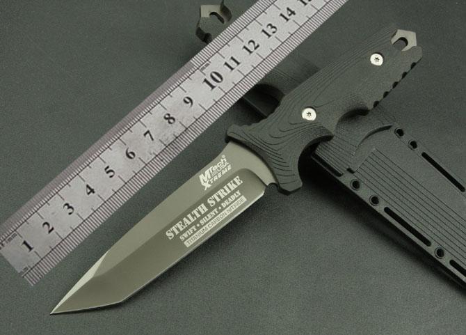 Hot Fixed Blade Hunting font b Knife b font 5Cr13Mov Gray Titanium Process font b Tactical
