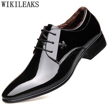 nuevos zapatos de los hombres zapatos de boda hombres charol oxford
