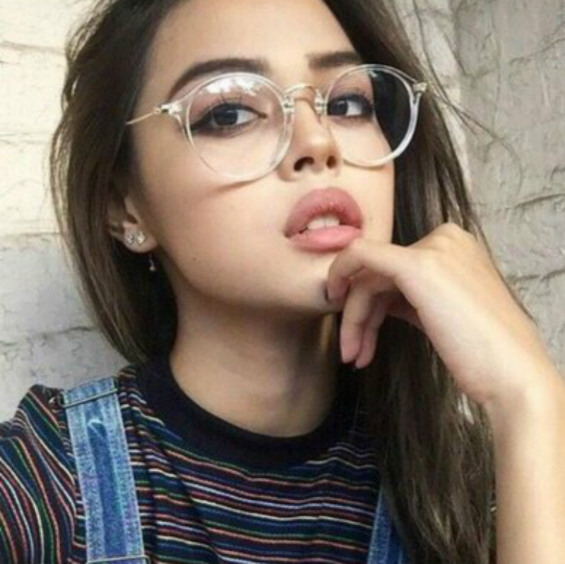 Transparent Retro Women Glasses Frame Fashion Men Eyeglasses Frame 2019 Round Clear Lens Glasses Optical Spectacle Frame