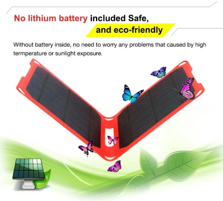 New 15W Foldable Solar Cells Charger Backpack Sunpower Solar Panel Charger with Dual USB for Mobile Phone Solar Battery 110 60mm diy sunpower solar cell mono solar panel 6v 1w china for energy solar lamp light toy car phone battery portable charger