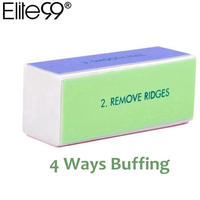 Elite99 Vier Seite Nail art Puffer Datei 1 stücke Nagel Kunst Datei Polieren Schleifen Dateien 4 Möglichkeiten Polieren Block Nagel tipps Nagel Extensions