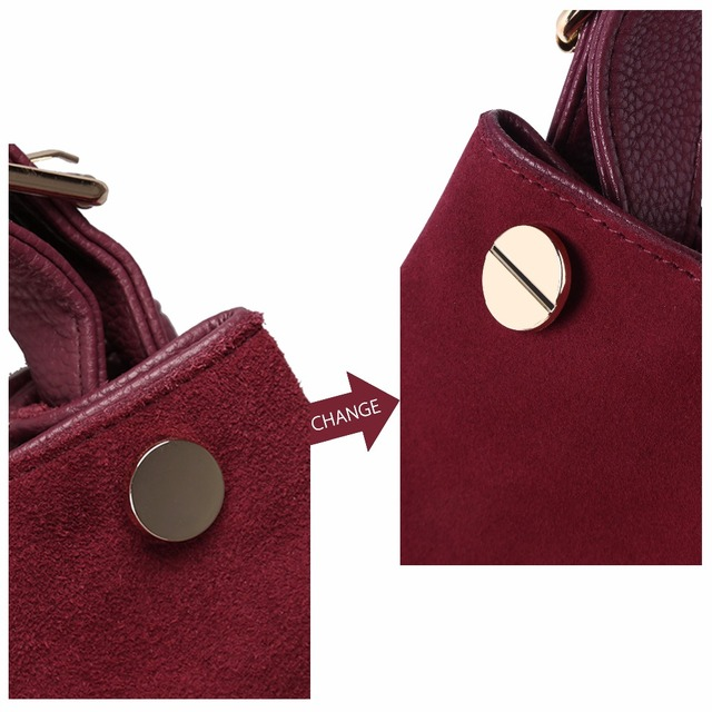 Nico Louise Suede Leather Shoulder Bags 3