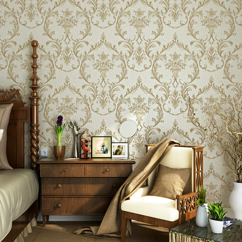 0 53x10m Vintage Style Brown Leather Horse Pattern Non Woven Wallpaper Living Room Bedroom Bedside Background In Wallpapers From Home Improvement