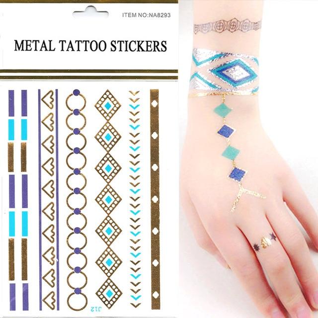 New Personality Nice 10pcs/lot Gold Make Fake Tattoo Tattoos ...