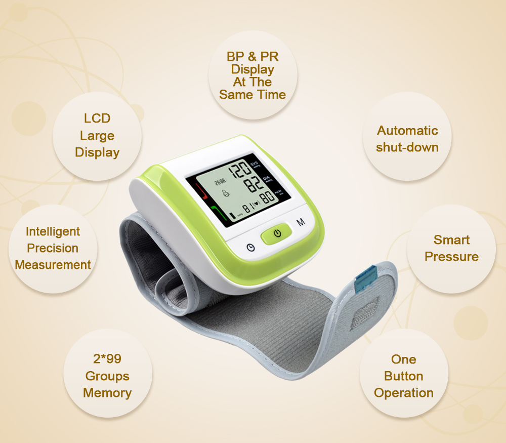 green blood pressure cuff