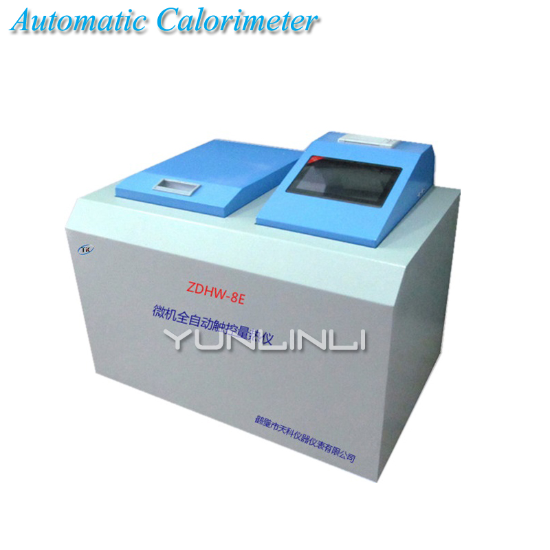 Coal Testing Equipment 220V 100W Automatic Calorimeter Detection Fuel Product Calorimeter Heat Instrument ZDHW 8E