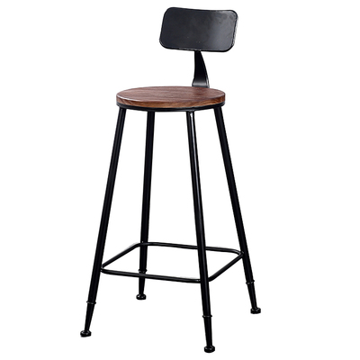 High Bar stool Backrest High chair Beauty chair European front Rotating lift bar Barber stool Round stool