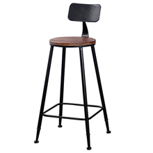 High Bar stool Backrest High chair Beauty chair European front Rotating lift bar Barber stool Round stool цена
