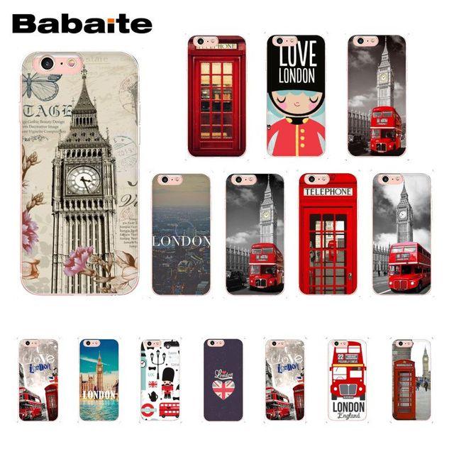 Babaite 旗イギリスロンドンビッグベン電話ボックス電話ケース iphone 8 7 6 6 s プラス X XS 最大 5 5 s SE XR 10 カバー