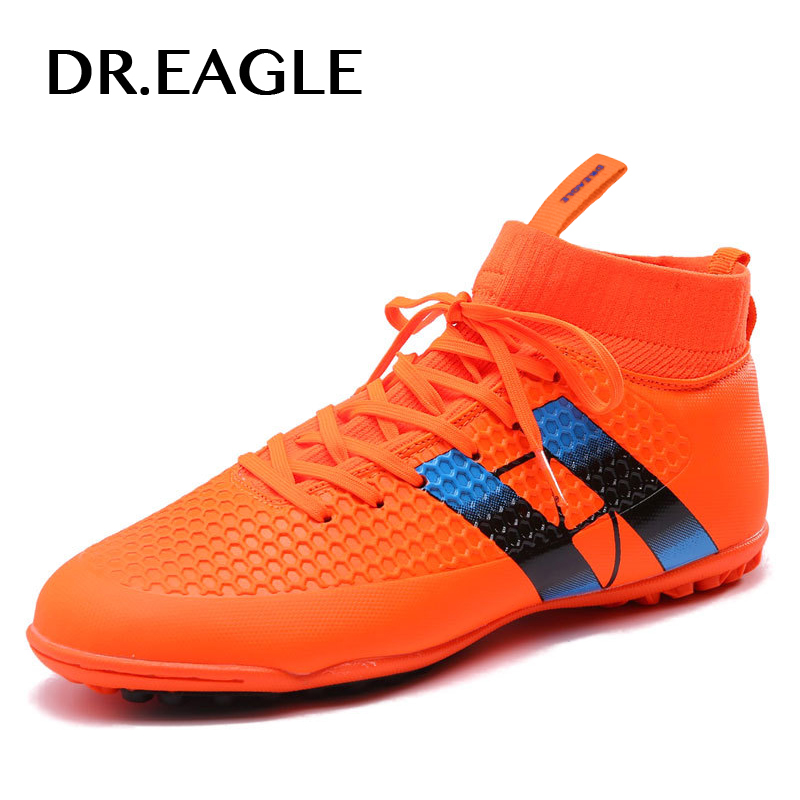 eb111d7a7 Men s Sneakers for futsal Turf High Ankle Indoor Futzalki for football  Boots Shoes Kids Soccer Cleats