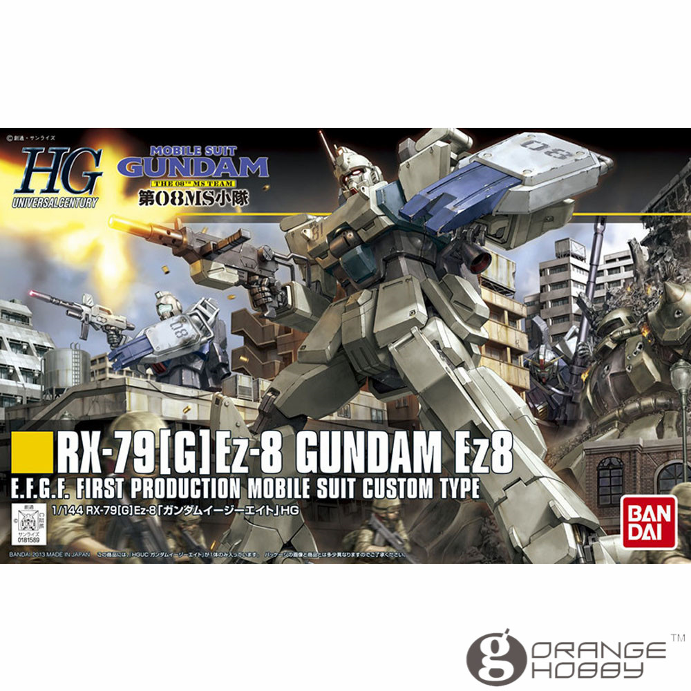 OHS Bandai HGUC 155 1/144 RX-79 G Ez-8 Gundam Ez8 Mobile Suit Assembly Model Kits ohs bandai mg 155 1 100 rx 0 unicorn gundam 02 banshee mobile suit assembly model kits oh