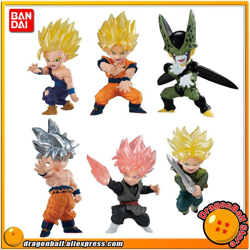 Dragon Ball SUPER BANDAI ADVERGE MOTION Collection Figure Full Set 6 Pcs Son Goku Gohan Cell Trunks Goku Black Rose