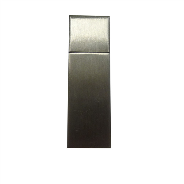Frete grátis retângulo pendrive stick usb Pen Drive Memory Stick de metal prata 64 gb usb 2.0