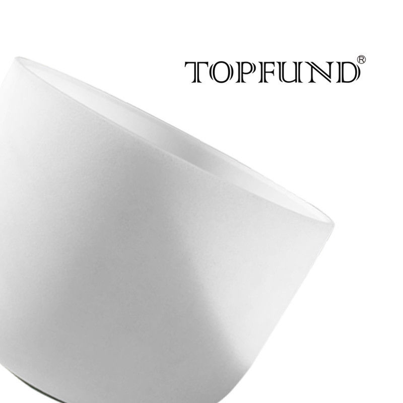 TOPFUND 432hz/Perfect Pitch Tuned F Heart Chakra Frosted Quartz Crystal Singing Bowl 12,O ring and Mallet included