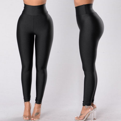 Women Leggings 2019 Spring New Arrivals Slim Solid Black Color Elastic High Waist Casual Long Leggings|Leggings| - AliExpress