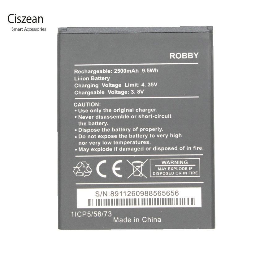 Ciszean Battery For Replacement 2500mah Wiko ROBBY New 1x