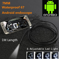 Waterproof 720P HD 7mm Lens Inspection Pipe 1m Endoscope Mini USB Camera Snake Tube With 6