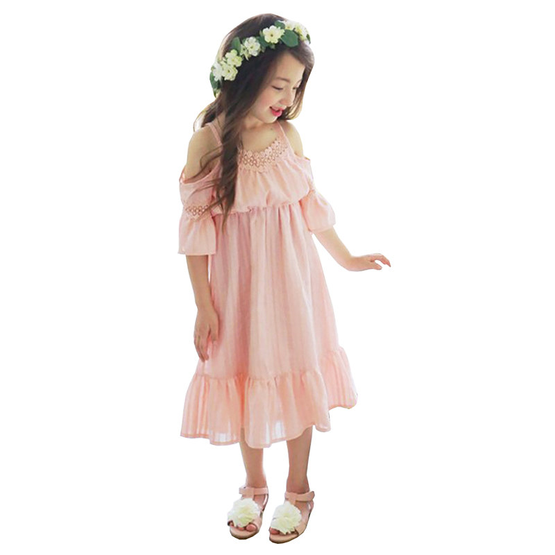 2017 Summer Style Children Lace Clothing Girls Dresses For Party And Wedding Sleeveless Kids Mesh Beach Princess Dresses2017 Summer Style Children Lace Clothing Girls Dresses For Party And Wedding Sleeveless Kids Mesh Beach Princess Dresses