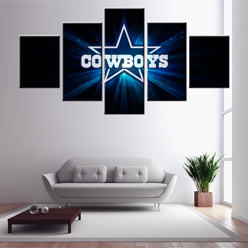 Modular Painting 5 Panel Dallas Cowboys Wall Pictures For