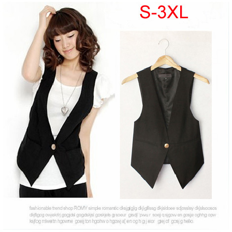 Free shipping 2014 spring preppy style waistcoat vest casual plus size slim suit vest size S-3XL