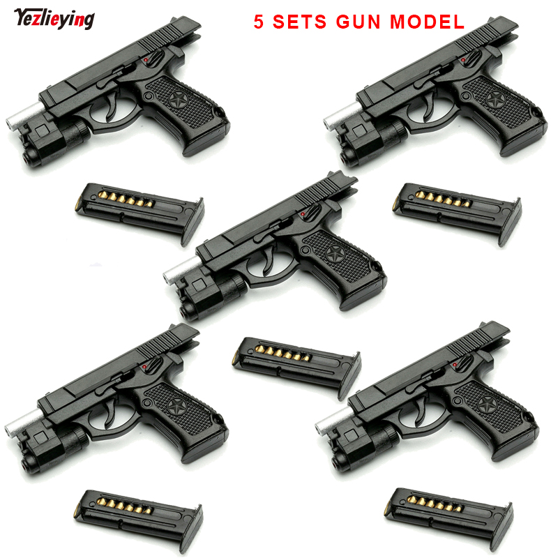 5 Sets 1/6 Scale Accessories Type 92 Single Pistol Gun Miniature Model Parts Detachable Fit 12 Inch Soldier Action Figure DIY 1 6 scene accessories gc1601 old cabin model 1 0 fit 12 soldier figure