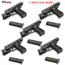 5 Sets 1/6 Scale Military Soldier accessories  92 Single Pistol Gun Miniature Model Parts Detachable For 12inches Action Figures цены