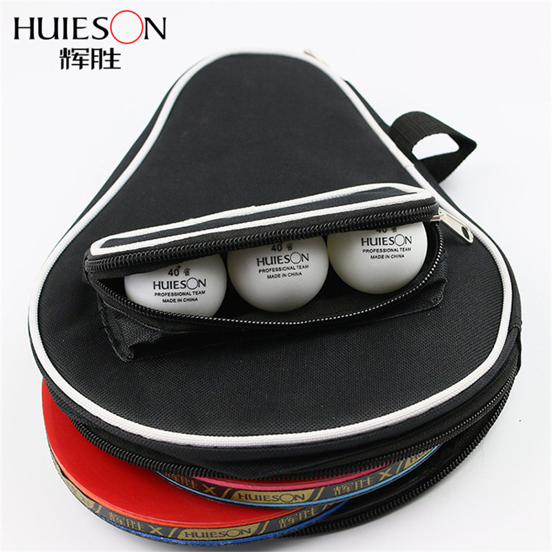Huieson Super Size Gourd Shape Table Tennis Racket Container Bag For 2 Rackets And 3 Balls Big Capacity Table Tennis Case
