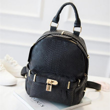 Fashion Retro Embossed Crocodile Backpack Women Leather Shoulder Bags School Bags For Teenager Girls Students Travel Bag Z40