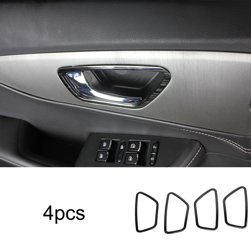 4pcs for dongfeng S560 Glass lifting switch panel Inner door Handle Stainless steel Decoration frame in Interior Mouldings from Automobiles Motorcycles