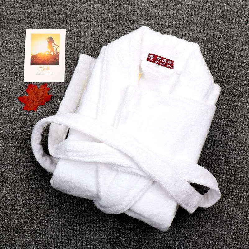 Bathrobe Men Luxury Winter Thick Cotton Long Bathrobe Men's Women's Homewear Towel Fleece Male Sleepwear Lounges Pajamas White