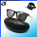 PB8106 Bamboo Wood Sunglasses in Vintage Style with Plastic Frame and Polarized UV Protection Colorful Lens In Gift Box