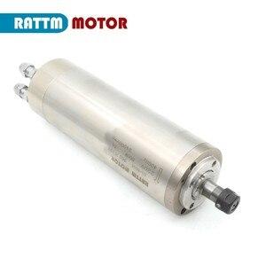 Image 3 - DE Free VAT 800W 0.8kw ER11 wodoodporny silnik wrzeciona 4 łożysko 220V wrzeciono chłodzone wodą CNC wysoki moment obrotowy wysoka precyzja