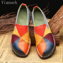 New Fashion Women Flats Genuine Leather Loafers Woman Soft Shoes Size 40 41 42 43 wo18081130 fashion new casual flats women soft genuine leather shoes autumn spring loafers woman wo1808112