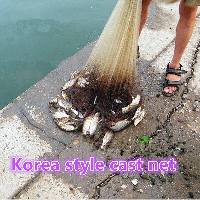 D450cm Korea Stil Cast Net Runde Fischernetz Fischfalle Fischernetz - Angeln - Foto 5