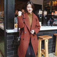 2018 Fall Winter Women Simple Cashmere Maxi Long Belted Coat Female Woolen Outerwear manteau femme abrigos mujer Z6128