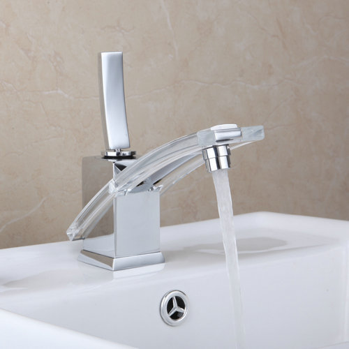 Bathroom glass basin faucet Bacia Torneira New ABS Bathroom Chrome 8227/12 Deck Mount Single Handle Sink Faucets,Mixer Tap brand new deck mounted chrome single handle bathroom