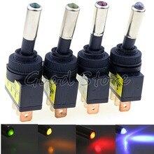 1 шт., ASW-15D, 12 В, 20 А, Автомобильный светодиодный переключатель, 3 pin, SPST, ВКЛ./ВЫКЛ., для автомобилей