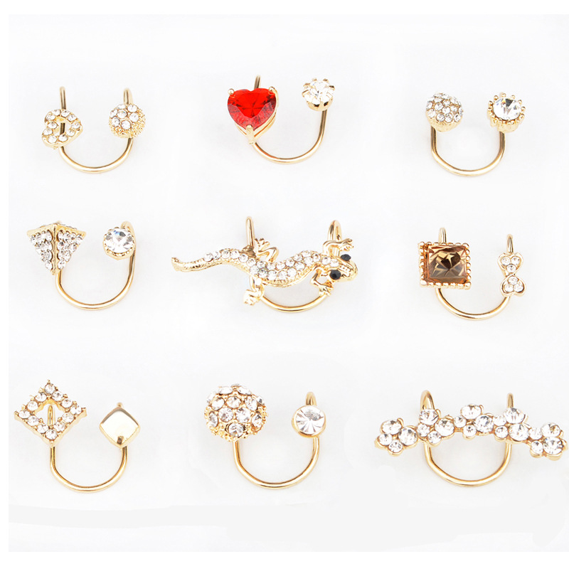 2018 Hypoallergenic double U-shaped ear clip without pierced earrings female ear buckle fake ear ear bone clip earcuff for woma